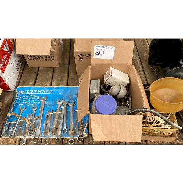 Wrenches, Funnels, Etc
