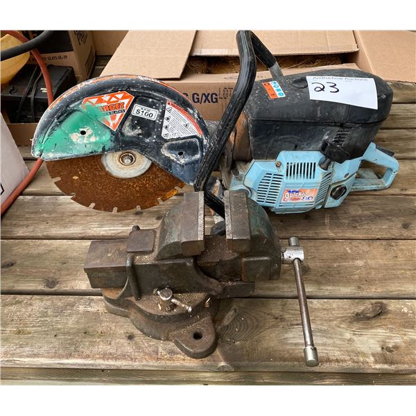 """4"""" Swivel Vise & Quickie Saw"""