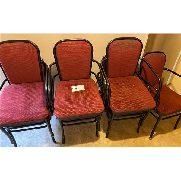 7 Red Chairs