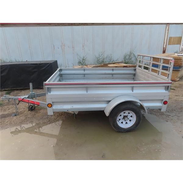 """2011 Linamar Consumer Products BH Utility Trailer Galvanized w Ramp Tailgate 7.5' Plus 20"""" More W Fr"""
