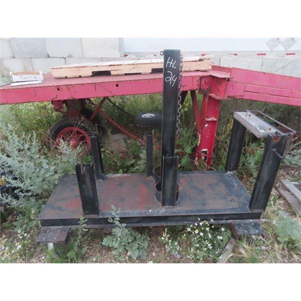 Metal Stand Originally Welder Mounted to It