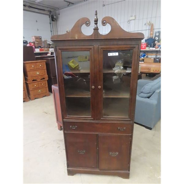"""China Cabinet 66""""H 31"""" W 14"""" D"""