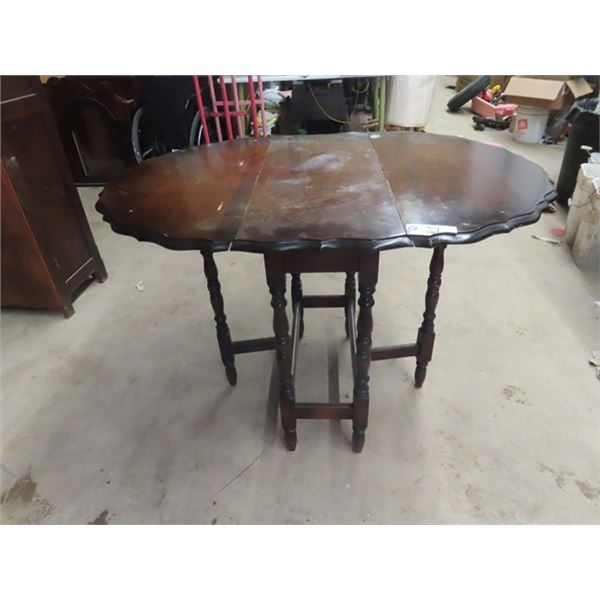 "Walnut Gateleg Table  44"" x 32"""