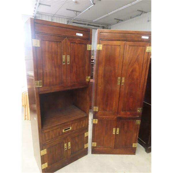 """2 Entertainment Cabinets 78"""" X 30"""" x 19"""""""