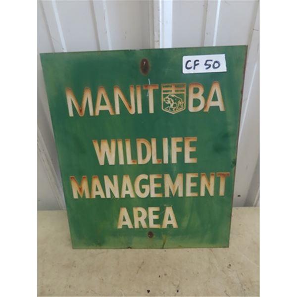 "Metal MB Wildlife Management Sign 12"" x 14"""