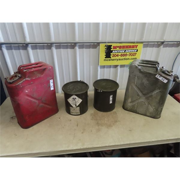 2 Militray Gas Cans & Containers
