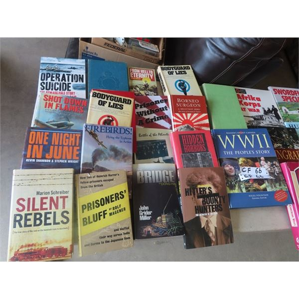 Approx 32 Books, Military , War & More!