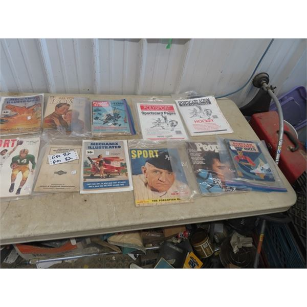 Approx 15 Old Magazines - Popular Mechanics, Sports, Love Plus More!