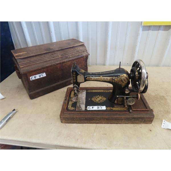 Portable Singer Crank Sewing Machine