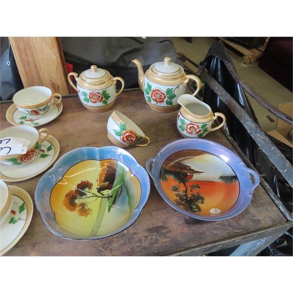 Tea Set, & Noritake Bowls