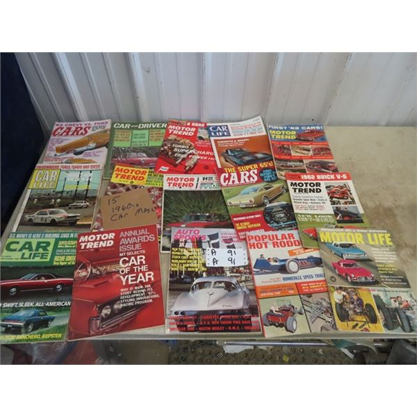 Approx 15 1960's Car Magazines