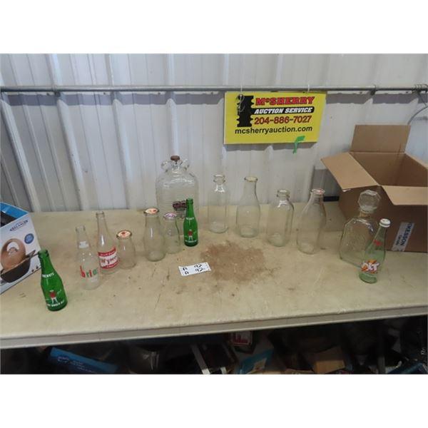 Milk Bottles, Jugs, Pop Bottles, - Drewery , Wynola Plus More!