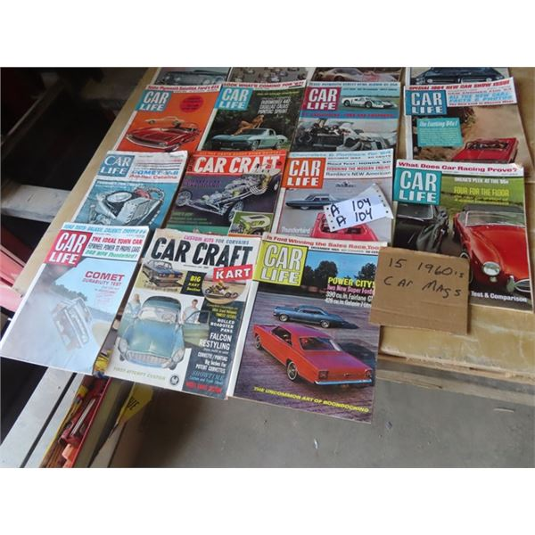 Approx 15 Car Magaziens 1960's