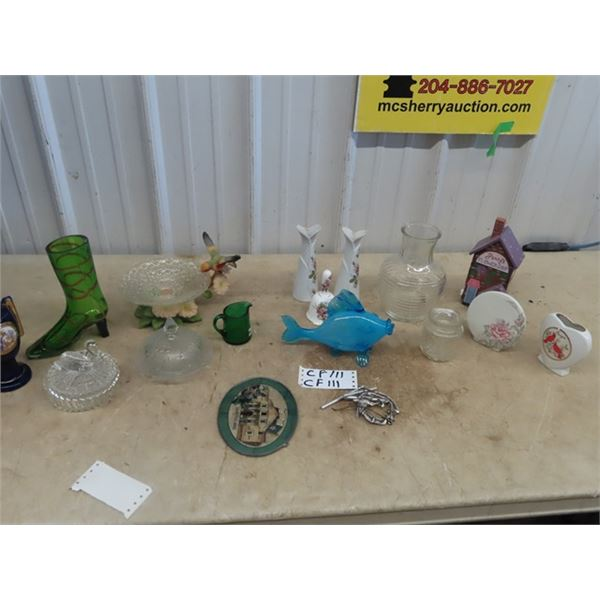 Covered Butter Dish, Vase, Bell, Ornaments, Plus More!