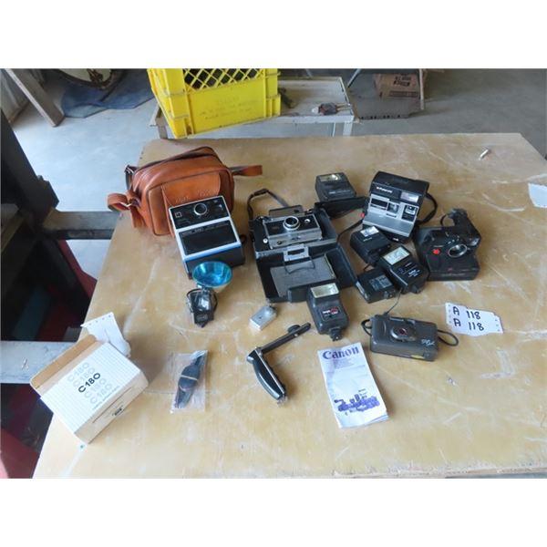 Cameras - Polaroild Auto 250, Kodak EK6, Polaroid Sun 610, Plus More