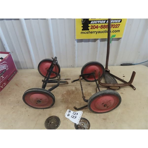 Child's Wagon Chassis & Handle - No Box -Old