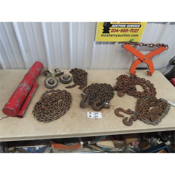 Pallet Grab, Chains & Hooks & Castors