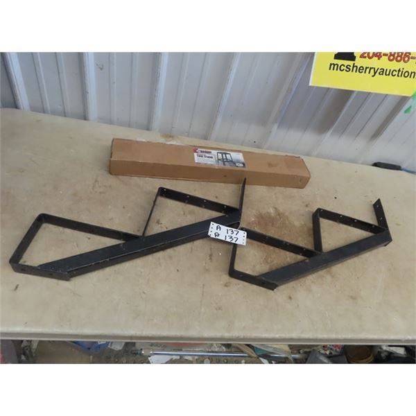 """Set of 28"""" Metal Stair Risers, New Power Tool Stand"""