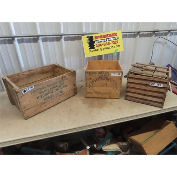 Blue Ribbobn Crate, Butter Crate, & Egg Crate