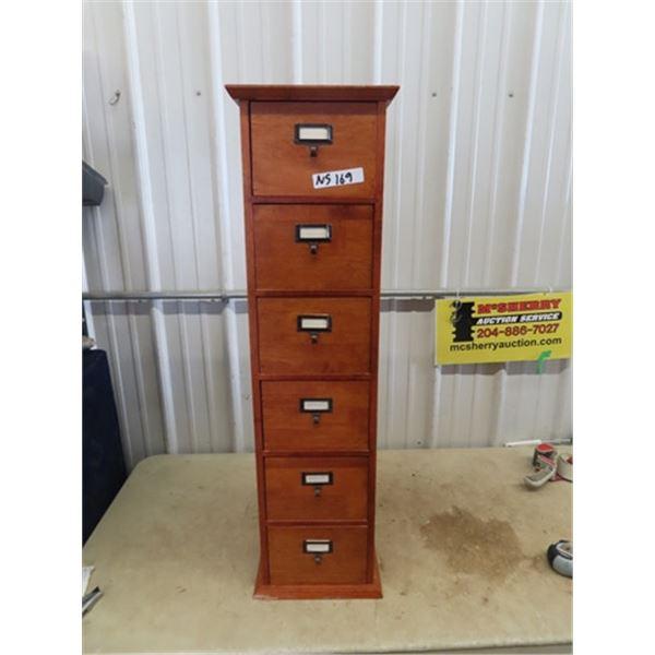 """Wooden 6 Drawer Organizer Cabinet 41""""H 11""""W 8""""D"""