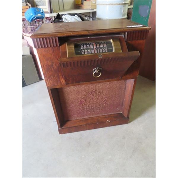 """General Electric Cabinet Radio - 34"""" 26""""W 14"""" D"""