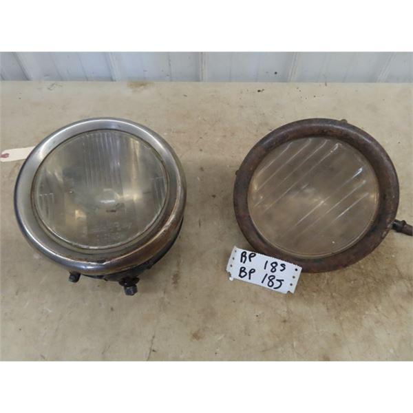 Old Auto Headlights w Lens
