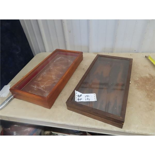 """2 Counter Display Cases 11"""" x 22"""" x 3"""""""