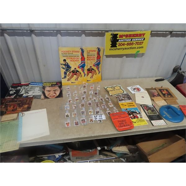Hockey Cards, Sports Magazines, Calendars, Plus