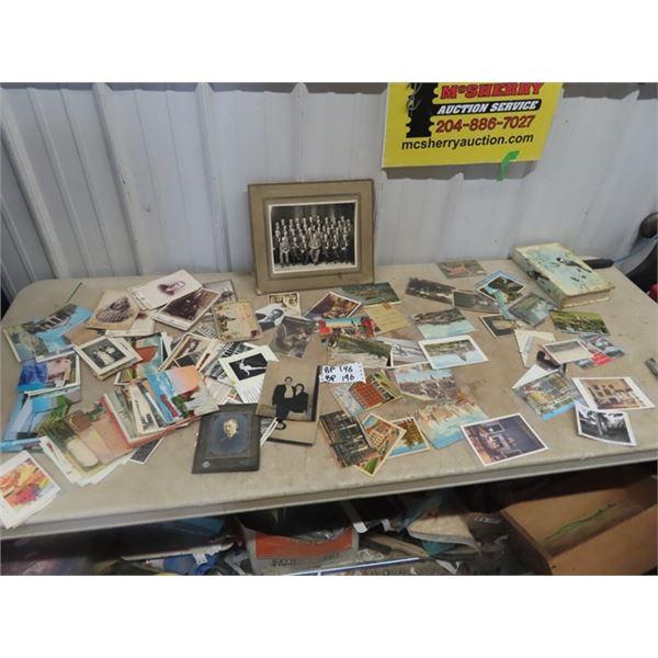 Postcards, & Old B & W Photo's
