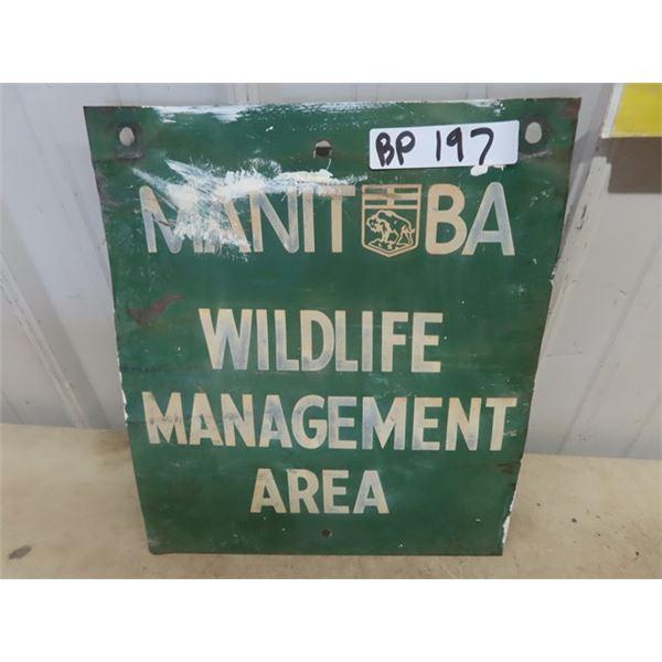 "MB Wildlife Management Sign 12"" x 14"""