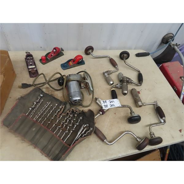 Power Jig Saw, 3 Planners, Drills & Bits
