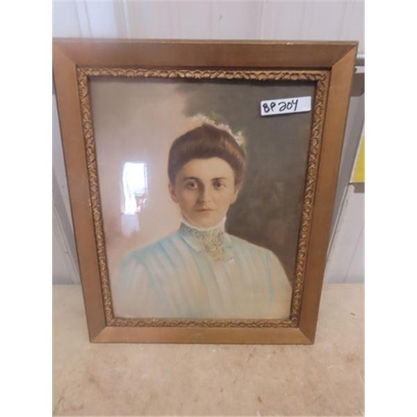 Framed Vintage Photo of Lady