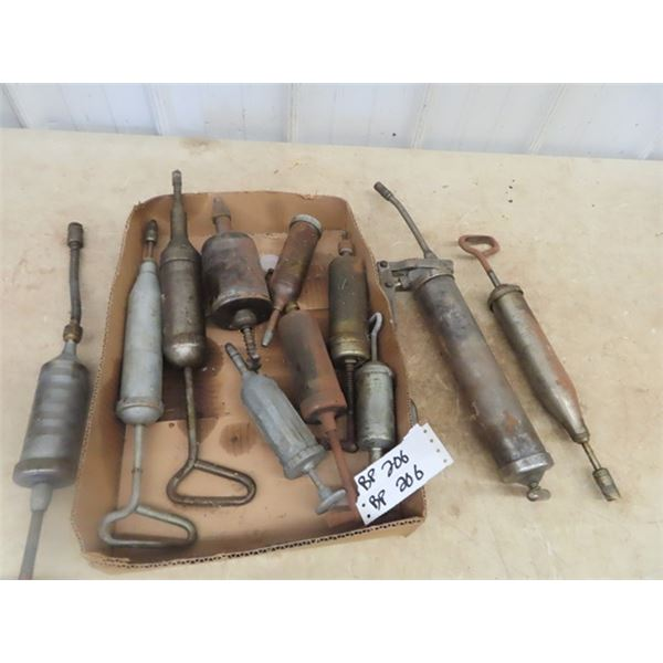 Grease Guns, Different Styles, Some Vintage