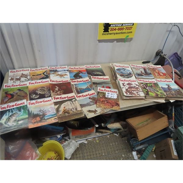 Approx 150-160 , 1960's-70's Fur FIsh Game Magazines