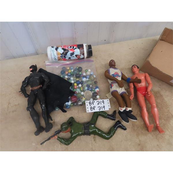 Figurines, Batman, Jordan, Marbles & Gretzky Cup