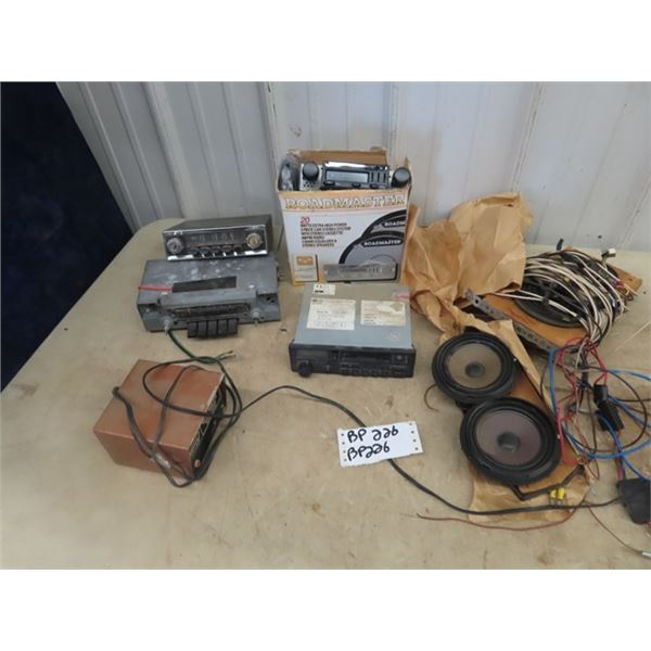 Car Radios - Some w Cassette Player & Speaker