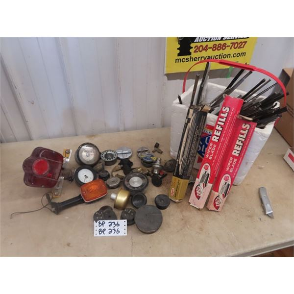 Auto Wipers, Gauges, Fuel & Rad Caps, Motorcycle Tail Lights Plus More!
