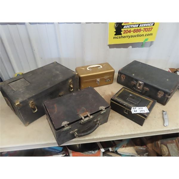 LEather & Metal Cases/Boxes
