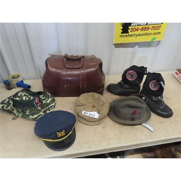 Doctor's Bag, Artic Cat Boots, Vintage Hats Plus!