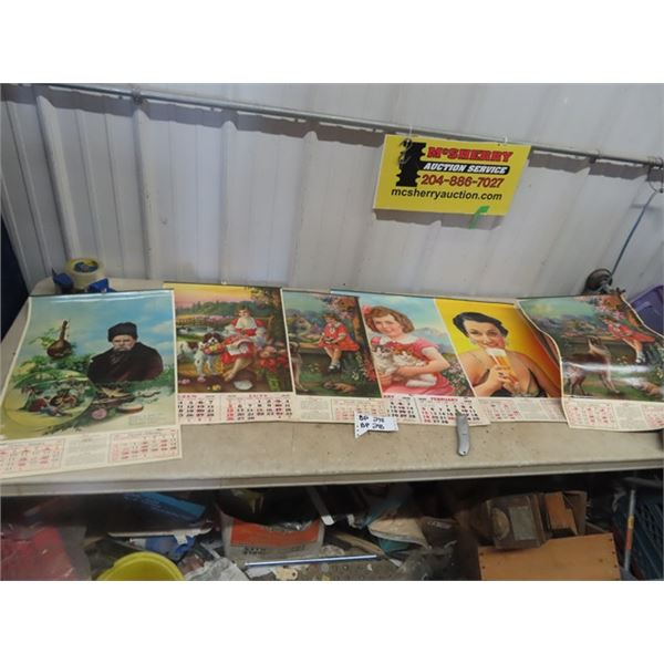 Approx 6 1939-40 Calendars
