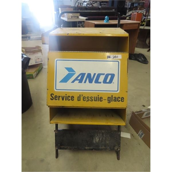 """Portable Metal Anco Wiper Cabinet 38""""H 21""""W 12-21"""""""