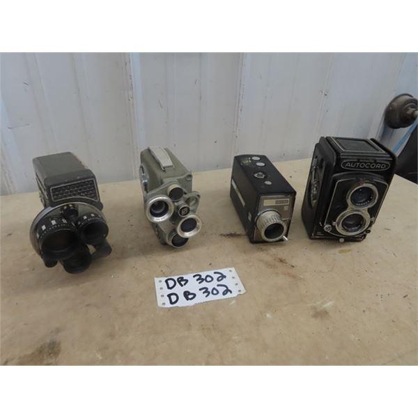 8mm, Eurnig, Movie Camera, Sears Reflux 161, Yashica 8-E111,  Minolta Autocord