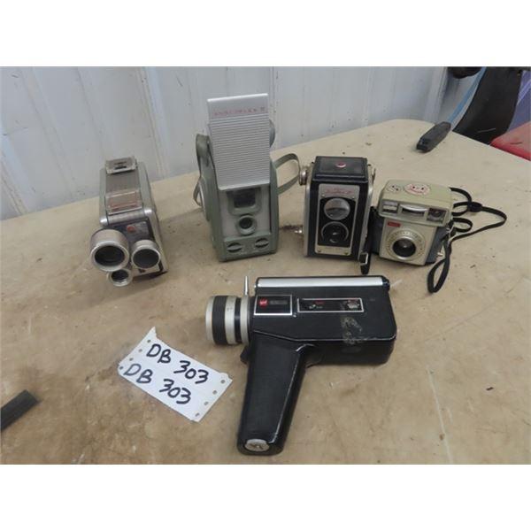 Kodak Brownie 8mm Camera, Anscoflex II, Kodak Duaflex III, Kodak Brownie Starmatic , Gaf 65