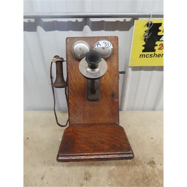 Oak Wall Mount Telephone