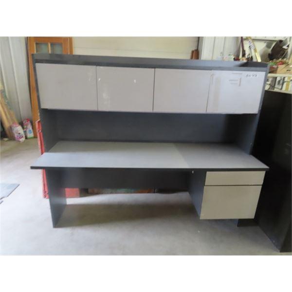 """Office Desk W Hutch 71""""W 23""""D 60""""H"""