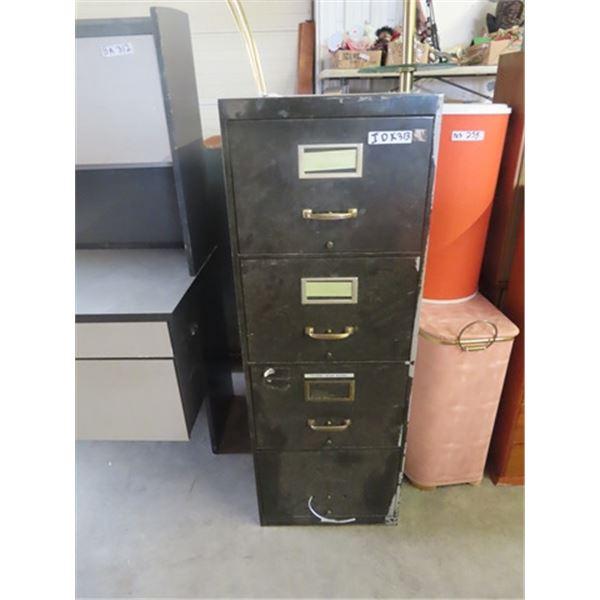 "(IDK) 4 Drawer Metal Filing Cabinet 51""H 21""D 18""W"