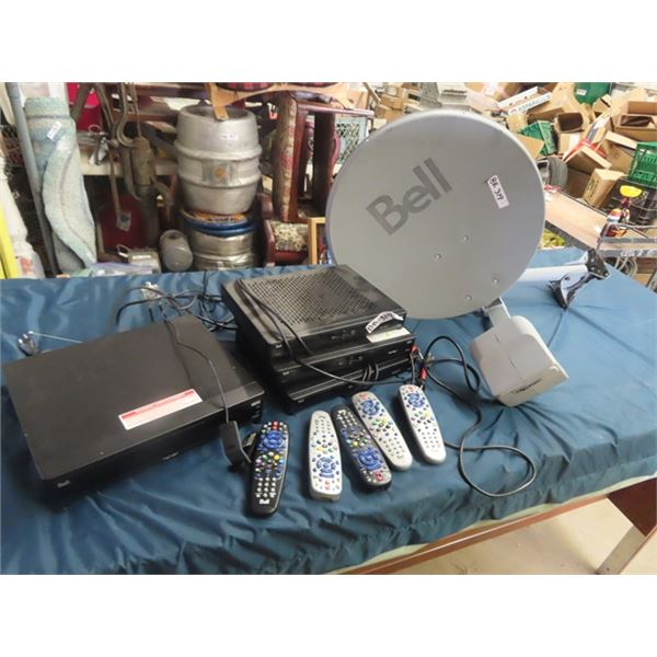 4 Bell Receivers & One Dish w Remotes