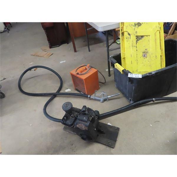 Longe Fuel Hose & Nozzle, Construction Heater, B & S Engine, Large Tub Style Tub