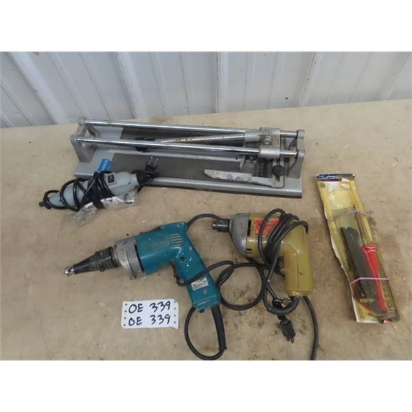 Makita Drywall Gun, Rotary Tool, B & D Drill, Manual Tile Cutter, Sodering Iron