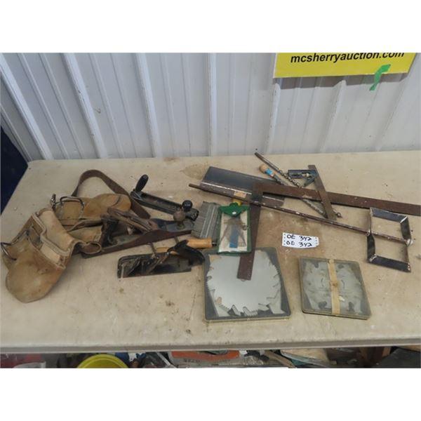 Carpentry Tools, Wood Planers, Square, Dado Blades, Measuring Device, & Tool Bag